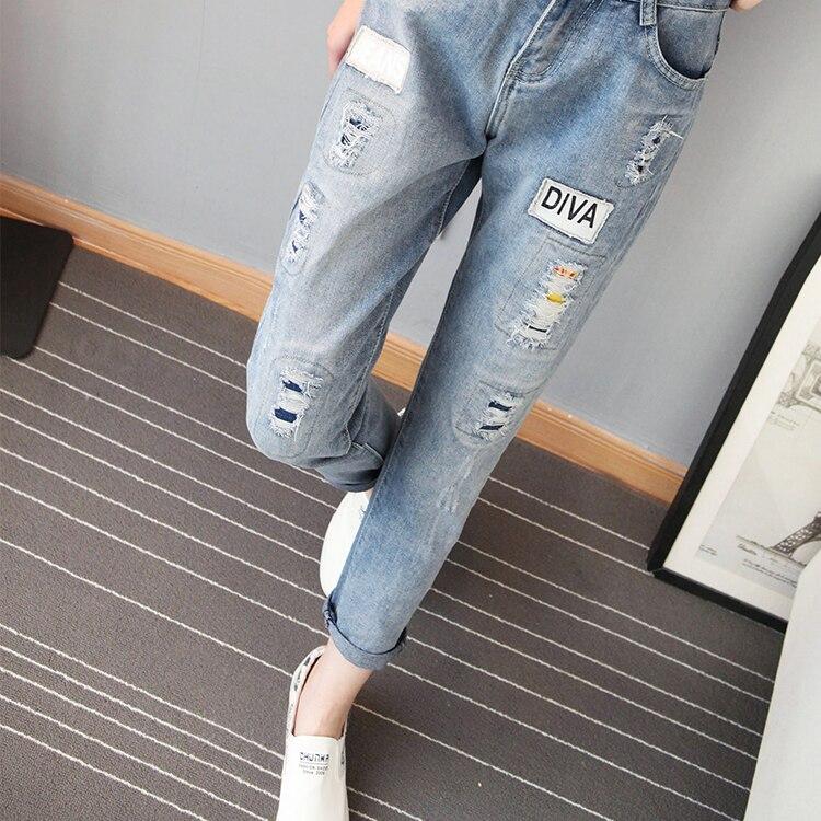 5xl plus size denim jeans women summer style 2017 bermuda feminina nine pants female hole jeans A0701Одежда и ак�е��уары<br><br><br>Aliexpress