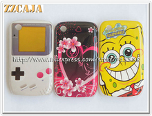 ZZCAJA For Blackberry 8520 Case Hard Plastic SpongeBob Game Love Heart Cartoon Pattern Phone Cover Shell for BB 8520 3 Designs(China)