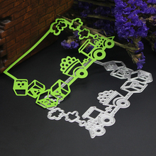 121*81mm Embossing Steel Truck Frame Cutting Dies Stencils DIY Scrapbooking Card Album Photo Painting Template Metal Cut Craft(China)