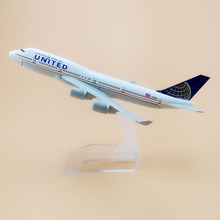 16cm Alloy Metal Air United Airlines Airplane Model Boeing 747 B747 Airways Plane Model Airplane Collection(China)