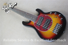 Excellent Feedback Music man Ernie Ball 6 Strings Bass Guitar Maple Neck Vintage Sunburst For Sale