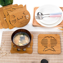 VILEAD Animal Wooden Drink Coasters Dish Pot Pad Kitchen Craft Table Pad Mat Plate Table Decoration Dining Mat Wood Pot Holders(China)