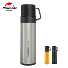 Vacuum-Bottle Naturehike Flask Stainless-Steel Camping Picnic NH17S020-B 3-In-1 Outdoor