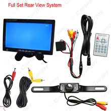 "DC12V 7"" Rearview Headrest Standalone LCD Monitor With License CCD Camera Car Rear View System #CA3752"