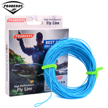 1pc PRO BEROS 100FT Weight Forward Floating Fly Fishing Line WF-2F/3F/4F/5F/6F/7F/8F Fly Line Moss Green/Orange/FluoYellow Color(Hong Kong)