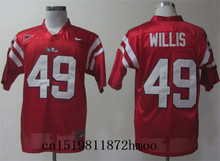 Free shipping 2017-2018 Nike New Arrival Nike Ole Miss Rebels Patrick Willis 49 College Sweatshirts(China)