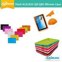 Rubber Silicone Protective Case For 7 Inch Q8 Q88 A13 A23 Android Tablet PC silicone back cover free shipping(China)