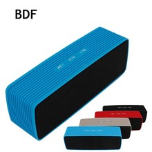 BDF Portable HiFi Bluetooth Speaker Stereo Wireless RECEIVER Speakers Support FM Audio TF Handsfree Boom box for Mobile Phone(China)