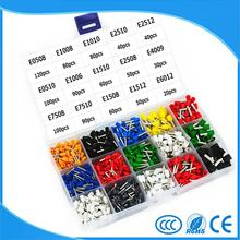 15 Model 8 Color Insulated End Terminal Wire Copper Crimp Connector 1000PCS/Kit Box(China)