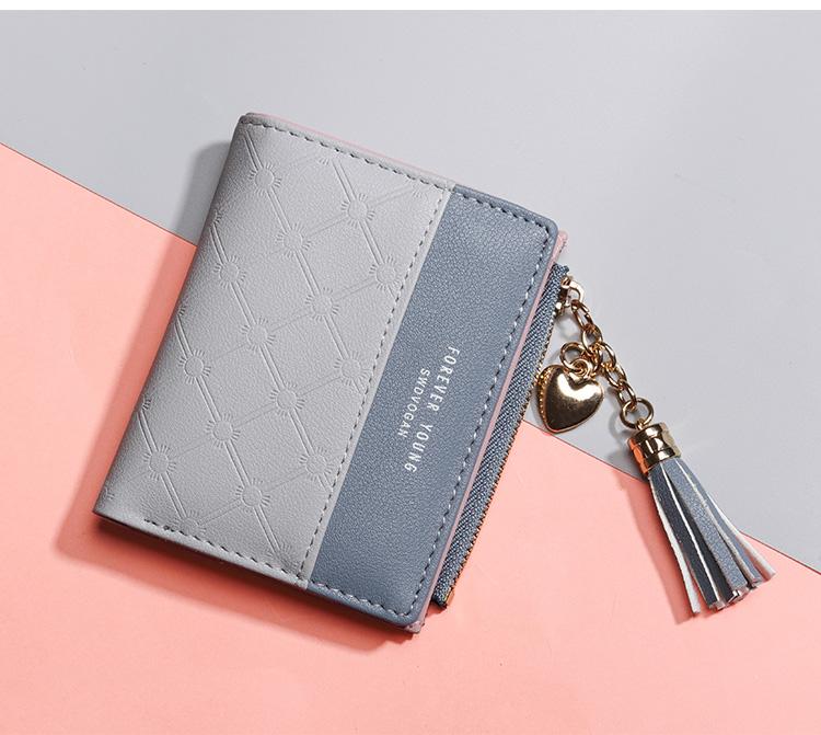 PU Leather,wallet female,wallet female women zipper,Fashion,Casual,Vintage,Black,Red,Brown,Blue,Pink wallet female leather (13)
