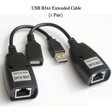 USB 2.0 to Rj45 Extended Cable Net 8Pin Cable Extender Network Line extension for PC Computer Laptop Printer Camera(China)