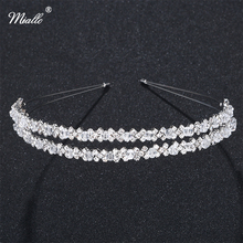 Miallo Crystal Rhinestones Hairbands Tiaras Beads Crowns Wedding Party Prom Hair Accessories Women Girls Fashion Head Jewelry(China)