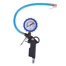Car Auto Truck Motorcycle Type Tire Air Inflator Dial PSI & BARS Pressure Tester Meter Gauge Diagnostic-tool(China)