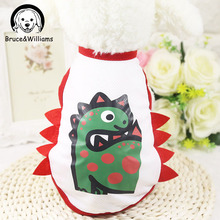 Bruce&Williams Dinosaur Dog Clothes Summer Cool Vest Clothes For Dogs Cute Cosplay Costume Chihuahua Yorkshire Mascotas DC668