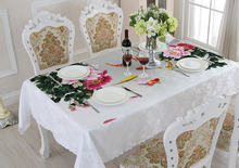 Table Cover White Linen Tablecloths Rectangular Round for Banquet Wedding Party Decoration 3d Printing