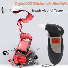 Digital LCD Backlit display Breathalyzer blowing Keychain sobriety Alcohol Tester Drunk driving test Portable alcohol detector
