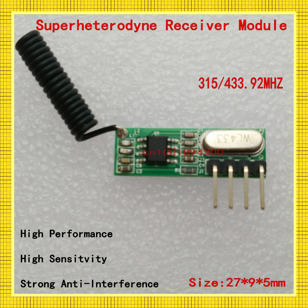 315/433MHz ASK Wireless Module kit RF receiver Factory sell directly Mini Size RX Signal Receiver Module-110dBm High Sensitivity<br><br>Aliexpress