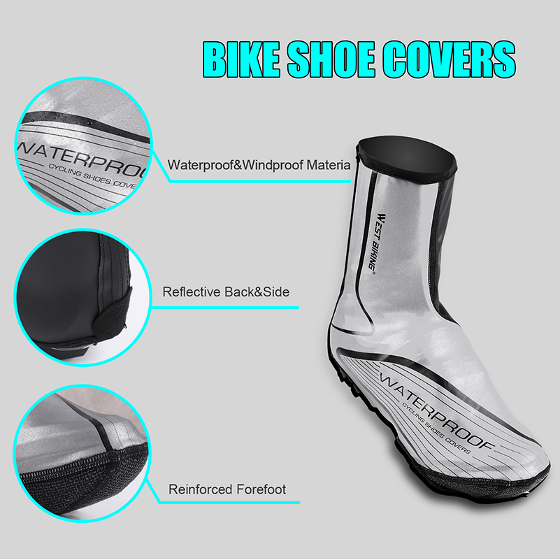 Details about  /Cycling Shoes Cover MTB Road Bike Night Reflective Overshoes Outdoor T7O8