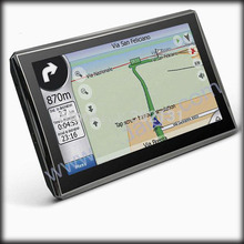 by dhl or ems 20 pieces 5 inch car GPS, MTK navigator 800Mhz CPU GPS built-in 4GB, DDR 128 MB, ,offer maps