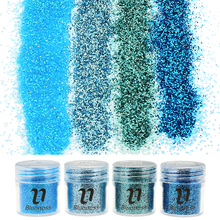 4 Bottle/Set 4 Colors Bling Bling Dust Gem Nail Glitter Decorations Acrylic Glitter Powder 3D Nail Art Tips BG041-044