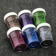 28.35g metallic gloss material Embossing Powder DIY Paint Rubber stamp scrapbooking tools(China)
