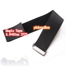 1PCS/LOT YT1115 Hasp Hookloop Nylon Fastening Tape Magic Tape Strap Black Cable Tie Wide 3.8 cm Length 50 cm(China)