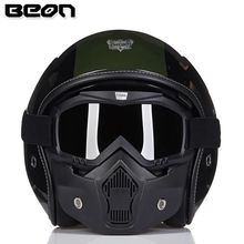 BEON moto rcycle шлем Halley Ретро шлем capacete moto крест шлем moto винтажные casco moto 117(China)