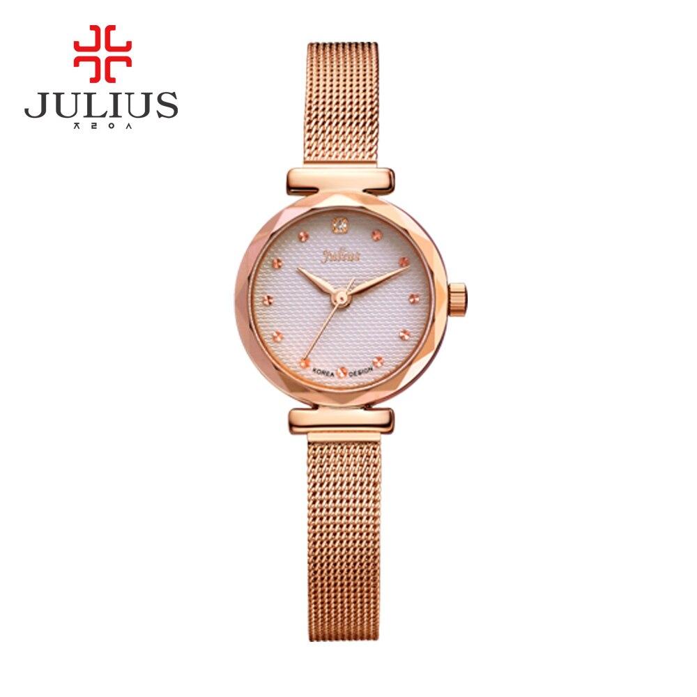 JULIUS Top Brand Luxury Watches Quartz Wristwatches Relogio Feminino Women Alloy Buckle Round Alloy Saat montre with Watch Box<br>