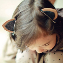 1PC Cat Children Hair Infant Hairgrips Cat Ear Style Baby Hair Clip Hair Accessories Summer Style Headband(China)