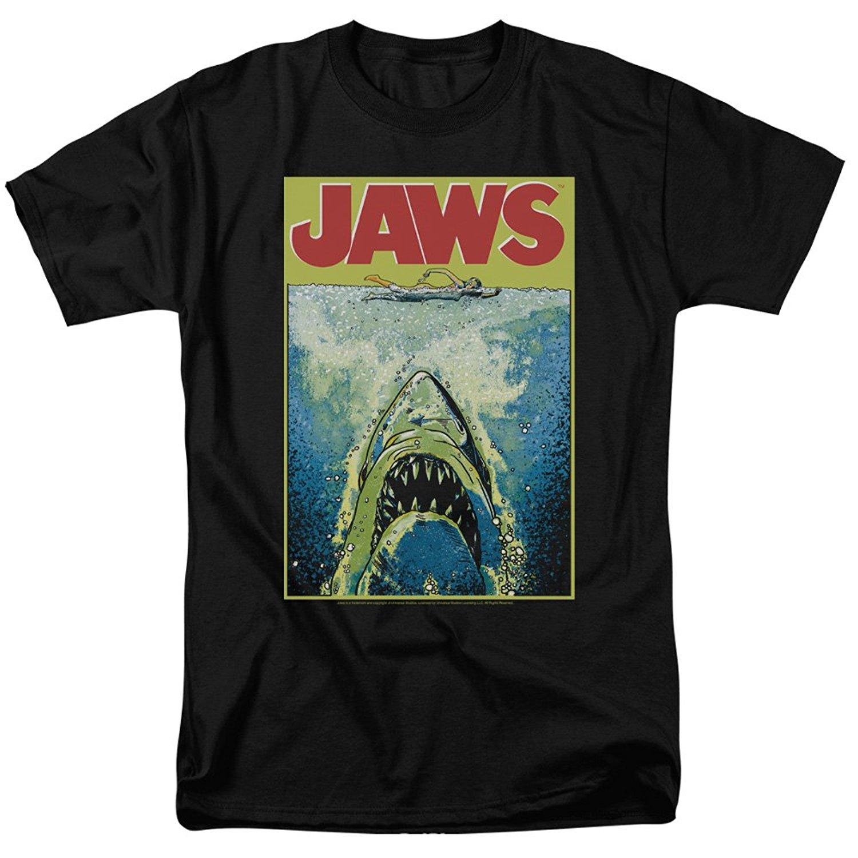 Paws Long Sleeve T Shirt Stranger Poster Retro Tee Shark Jaw Cult Film Top