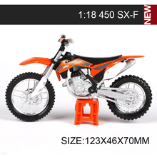 KTM Motorcycle Models 450 Rally 640 DUKE LL 525 SX450 SXF520 SX RC390 1:18 scale miniature race Toy For Gift Collection