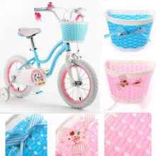 Fahrradkorb Radkorb Lenkerkorb Girls Bike Bicycle Front Basket Flowery Shopping Stabilizers Children Kids Bike Basket