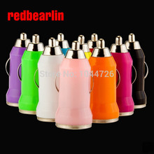 redbearlin 200pcs/lot Colorful Mini USB Car Charger For IPhone 5S 5C 5 4 4G 3G for HTC Samsung Blackberry Nokia Motorola