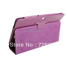For Asus Eee Pad Transformer TF300 TF300T Purple New Stand Folid PU luxury leather case Cover