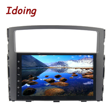 Idoing 1Din 9inch Android6.0 Car Multimedia Player Fit MITSUBISHI PAJERO V97 V93 2006-2011 Octa Core Fast Boot 2G RAM 32G ROM(China)
