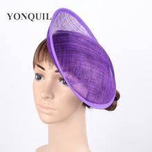 "2017 Purple 10""/25CM Sinamay Fascinator Base Millinery Fascinator Hat Base Craft Making Material derby party headwear 12pcs/lot(China)"