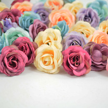 Mix color  High Quality artificial silk flower head Retro rose buds 2.5-3cm / wedding favours, events or christmas party 20pcs