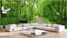 Buy Custom mural 3d photo wallpaper forest path dove decor painting 3d wall murals wallpaper living room walls 3 d for $16.42 in AliExpress store