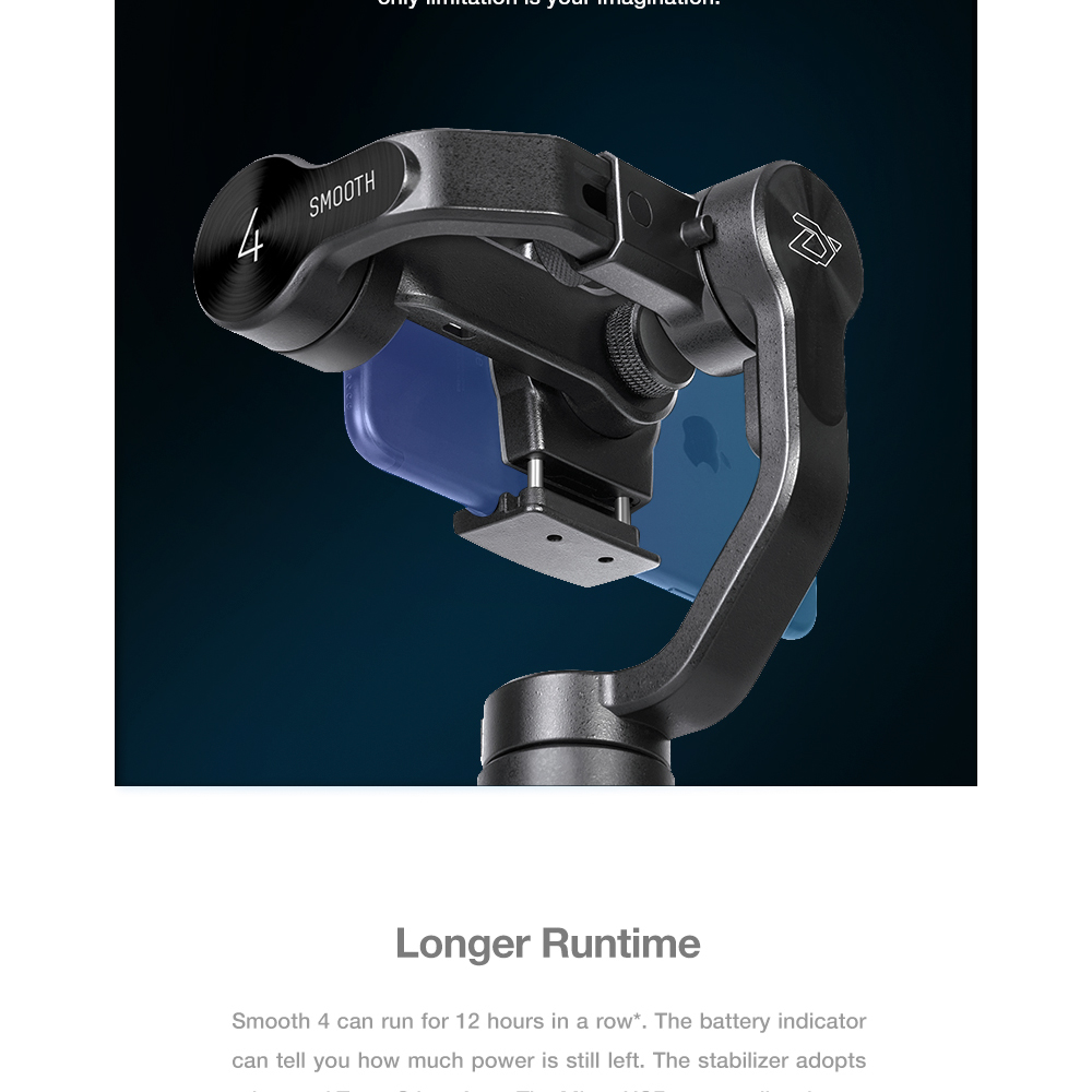 ZHIYUN Official Smooth 4 3-Axis Handheld Smartphone Gimbal Stabilizer VS Smooth Q Model for iPhone X 8Plus 8 7 6S Samsung S9S8S7 6