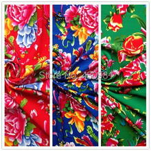 meter peony phoenix clothing sewing bourette dress material ethnic print rayon fabric