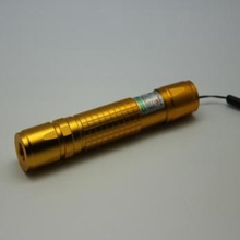5mw Light Match 532nm Green Laser Golden Tail Switch Anodic Oxide DC3V-3.7V Copper for Climber Tool PPT Use(China)