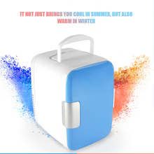 4L Mini Car Fridge Freezer Cooler Warm Use 12V Portable Icebox Travel Refrigerator for Camping Driving Pink blue option(China)