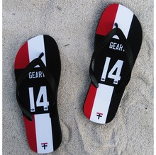 St Kilda Saints AFL Slipper geary any name number rugby Beach shoes Australia football fans Flip flops(China)