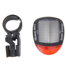 2 LED Red Bike Bicycle Seatpost Solar Energy Bicycle Lights Rechargeable Red Tail Rear Light Flashlights
