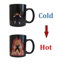 New Arrival Dragon Ball Z Vegeta Coffee Cup Heat Reactive Color Change Ceramic Mug Novelty Caneca Cups Creative Mugs Xmas Gift(China)