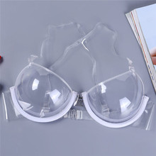 Buy Sexy Women 3/4 Cup Transparent Clear Push Bra Ultra-thin Strap Invisible Bras Underwear