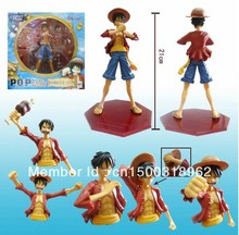 anime Luffy figures One Piece POP Portrait of pirates Monkey D Luffy figure toys 8.5inch Free shipping Japan Anime(China)