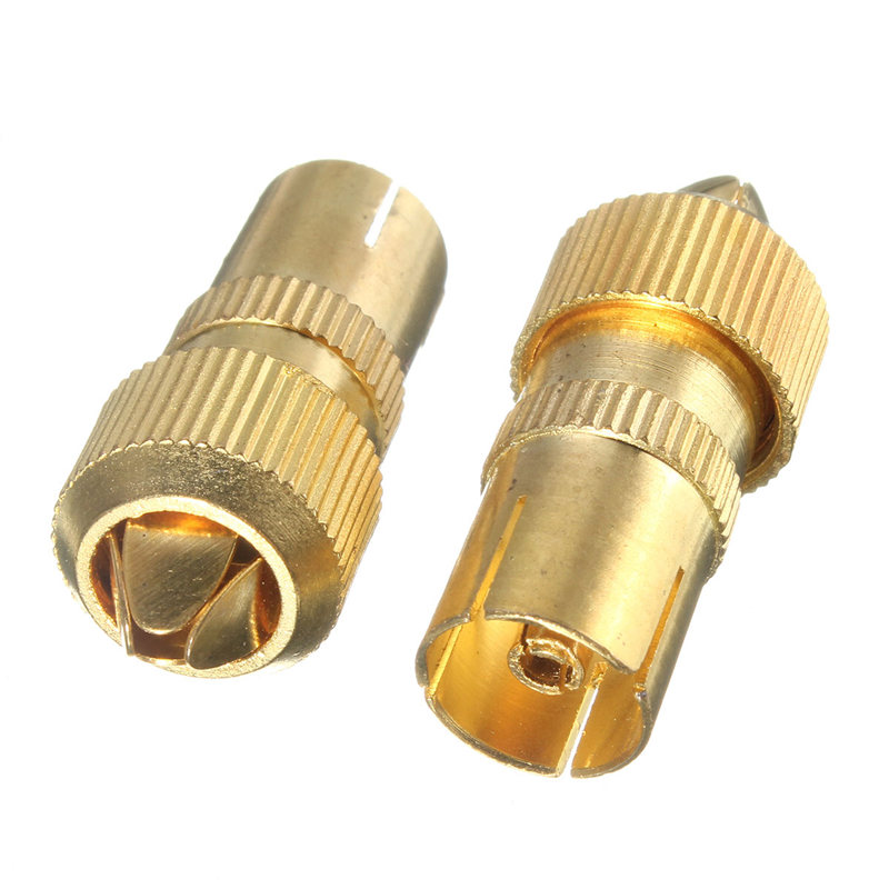 2PCS/lot Female TV Aerial Connector Adapter RF Coax Coaxial Cable Socket Bamboo Head RF Female Plug Connectors
