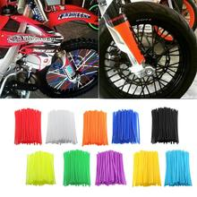 VEHEMO 72Pcs Universal Motorcycle Dirt Bike Road Wheel Rim Spoke Shrouds Skins For YAMAHA KAWASAKI zx6r bmw KTM HONDA tmax(China)