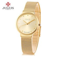 Luxury Brand Julius Relogio Feminino Clock Women Watch Stainless Steel Watches Ladies Fashion Casual Watch Quartz Wristwatch(China)